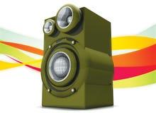 SPEAKER. Colorfull Speaker in 3d ilustration Stock Photos