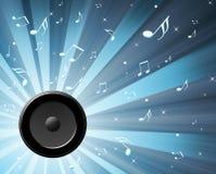 Speaker. Illustration music speakers music key Royalty Free Stock Photography