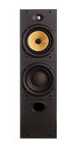 Speaker. Floor standing speaker with yellow kevlar cone Royalty Free Stock Photo