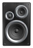 Speaker. Black speaker isolated on white Royalty Free Stock Photo