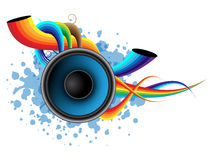 Speaker - abstract background. Rainbow colors Stock Photo