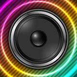 Speaker with abstract colorful background Royalty Free Stock Image