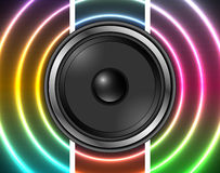 Speaker with abstract colorful background Royalty Free Stock Photography