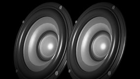 SPEAKER ANIMATION 2 stock footage
