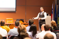 Speaker At Business Conference And Presentation. Stock Photo