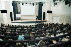 Free Speaker At Business Conference And Presentation. Audience The Conference Hall. Stock Photography - 114055462