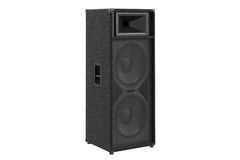 Speaker audio loud bass. Heavy melody. 3D rendering Stock Photography