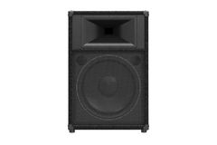 Speaker audio loud music, front view. Speaker audio loud music for rock and disco, front view. 3D rendering Stock Image