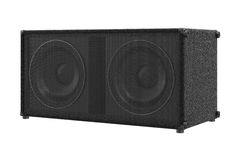Speaker audio loud sound. Powerful stereo. 3D rendering Royalty Free Stock Photos