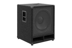 Speaker audio sound. Box column. 3D rendering Royalty Free Stock Photography