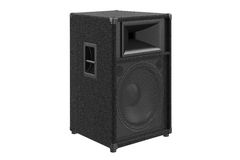 Speaker audio sound system. For concert and party. 3D rendering Stock Photos