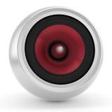 Speaker. Audiophile speaker, isolated on white royalty free illustration