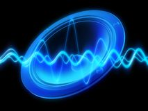 Speaker,audiowave. 3d rendered illustration of a speaker Stock Image