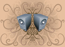Speaker background royalty free illustration