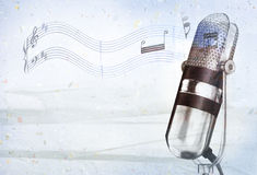 Speaker background. Classical background design with old speaker Royalty Free Stock Photography