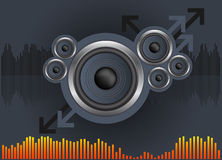 Speaker Background. Speaker abstract design over a dark gray background royalty free illustration