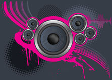 Speaker Background. Speaker abstract design over a dark gray background stock illustration