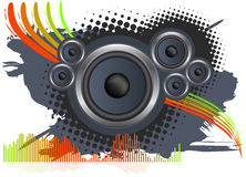 Speaker Background. Speaker abstract design isolated over white background stock illustration