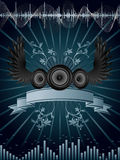 Speaker background. Vector abstract background with audio speakers Stock Images