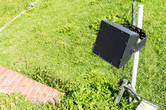 Speaker be installed in the garden Stock Photography