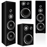 Speaker in black color  illustration Royalty Free Stock Photography
