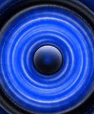 Speaker_blue royalty free stock image