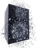 Speaker box exploding Royalty Free Stock Image