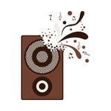Speaker box icon. Speaker bass box icon over white background. vector illustration Stock Images
