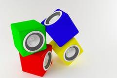 Speaker boxes Stock Image