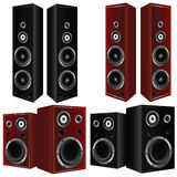 Speaker in brown and black color vector art illustration Royalty Free Stock Photo