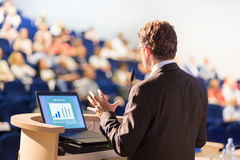 Speaker at Business Conference and Presentation. Royalty Free Stock Image