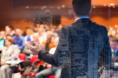 Speaker at Business Conference and Presentation. Speaker at Business Conference with Public Presentations. Audience at the conference hall. Entrepreneurship Stock Photos