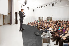 Speaker at Business convention. And Presentation Stock Images