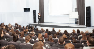 Speaker at Business convention. And Presentation Stock Image