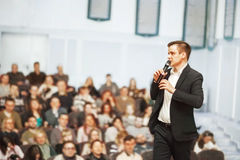 Speaker at Business convention. And Presentation Stock Photos