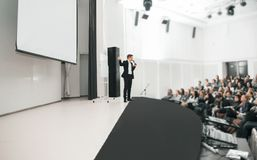Speaker at Business convention and Presentation. Audience at the conference room Stock Images