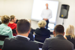 Speaker at Business convention and Presentation. Royalty Free Stock Photography