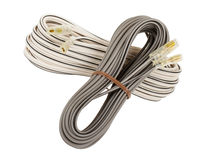 Speaker cable isolated Stock Image