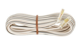 Speaker cable isolated Royalty Free Stock Image