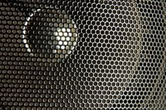 Speaker closeup. Close up of black speaker Stock Image