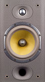Speaker closeup. A high end speaker showing details of the midrange and tweeter with a bass reflex system. Covers the full frame royalty free stock photos