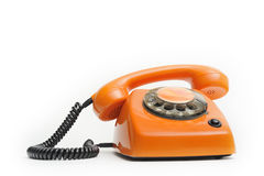 Speaker comes of telephone Royalty Free Stock Photos