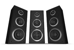 Speaker concept 3d illustration. Isolated on white background Royalty Free Stock Images