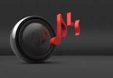Speaker concept Stock Image