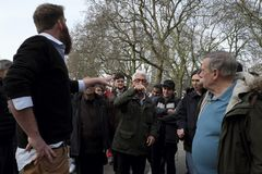 Speaker`s Corner in Hyde Park,London. Stock Photos