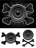 Speaker with crossbones Stock Images