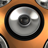 Speaker, 3D. Close-up view of speaker, 3D rendering image Royalty Free Stock Image