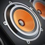Speaker detail. High performance speaker detail with selective focus vector illustration
