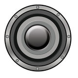 SPEAKER. A DEVICE AN INSTRUMENT USED IN CONCERT AND OTHER LOUD OCCASIONS. PRODUCES SOUND Royalty Free Stock Photos