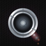 Speaker double ring over metal background Stock Photography